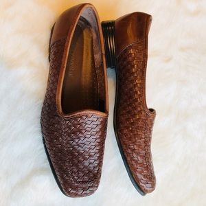 Shoes - Leather woven loafers
